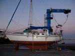 Canarias, Playa Blanca (Lanzarote). Acabando la cabina y puesta a punto antes de zarpar a Cavo Verde.