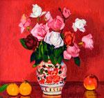 薔薇  1975年 H57.4×60.4板、油彩