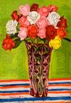 薔薇(フランス花瓶) 1973年 H73×50 M20 キャンヴァス、油彩