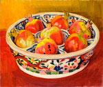 万暦のざくろ 1960年 H37.5×45 F8 キャンヴァス、油彩