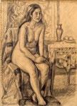 デッサン 1954年 H38×26.5 紙、鉛筆