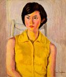 吉田きみ子嬢 1977年 53×45.5 F10 キャンヴァス、油彩