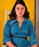 水野幸子嬢 1975年 H60.5×50 F12 キャンヴァス、油彩