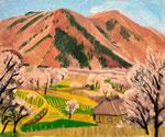杏風景 1961年 H50×60.5 F12 キャンヴァス、油彩 キャンヴァス、油彩