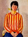 信美肖像 1980年 H80.5×60.8 P25 キャンヴァス、油彩