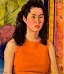 オレンジ色の服 1969年 H53×45.5 F10 キャンヴァス、油彩