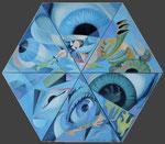 Focus, 6 Teile 100 x 100 cm