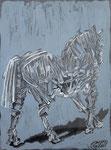 Troja, Pastell, Kreide, Acryl, 40 x 30