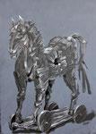 Troja2, Pastell, Acryl, 30 x 40 cm