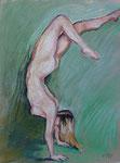 Handstand 2, Pastell, 50 x 40 cm