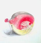 Ballon, Stift, Aquarell, 30 x 30 cm