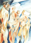 Männer 2, Aquarell, 50 x 40 cm
