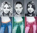Girls, Acryl, je 80 x 60 cm