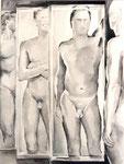 Männer 1, Stift, 50 x 40 cm