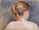 Haare, Pastell, 40 x 50 cm
