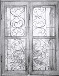 Fensterskizze, Stift, 18 x 14 cm