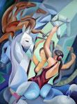 Horsewoman, 80 x 60 cm