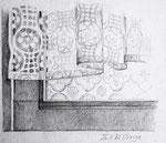 Vorhang, Stift, 13 x 17 cm