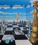 Schach, 140 x 100 cm
