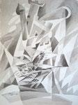 Türme, Stift, Tusche, 40 x 30 cm