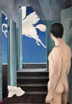 Nachtpferd, Ölfarbe auf Leinwand, 100 x 70 cm