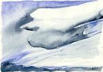 Eisvogel, Aquarell, 30 x 40 cm