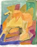 Kamele 2, Aquarell, 30 x 20 cm