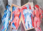 Komplementär, Aquarell, 40 x 50 cm