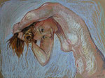 Haare 2, Pastell, 40 x 50 cm