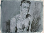 o.T. Stift/Kreide, 20 x 30 cm