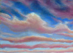 Wolken, Pastell, 40 x 50 cm