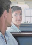 Mirror, Ölfarbe und Eitempera a. Lw, 70 x 50 cm