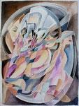 Individualität, Aquarell, 50 x 40 cm