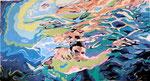 Schimmer, Acryl, 200 x 250 cm