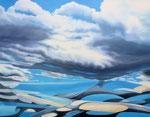 Wolken 3 , 100 x 70 cm