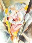 Tanz 1, Aquarell, 50 x 40 cm