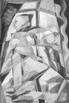 Sektfrühstück, Stift, 30 x 20 cm