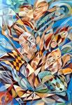 Eurydike 3 - das Fest, 125 x 85 cm