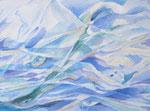 Wasser 2, Stift, 40 x 50 cm