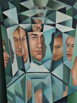 Spiegelungen 1, 80 x 60 cm