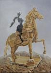 Trojaner3, Ölfarbe Spachtelmasse,Holz a. Lw, 100 x 70 cm