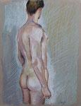 Rücken1, Pastell, 40 x 30 cm