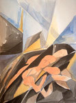 Abschied 2, Aquarell, 40 x 30 cm