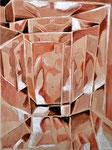 Spiegelungen 1, Stift, Tempera, 50 x 40 cm
