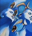 Fische, 60 x 50 cm