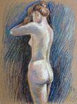 Körperstudie2, Pastell 50 x 40 cm