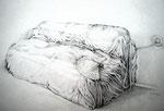 Sofa, Stift, 40 x 60 cm