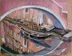 Venedig 1, Pastell, 20 x 50 cm