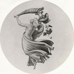 Konzerthaus - Deckengemälde (nach Zeichnung von Kloeber): Mänade mit Füllhorn, Tempera, 1,80 m Durchmesser