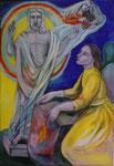 Altar geöffnet: Rechter Flügel/ Auferstehung/ vor Ort!